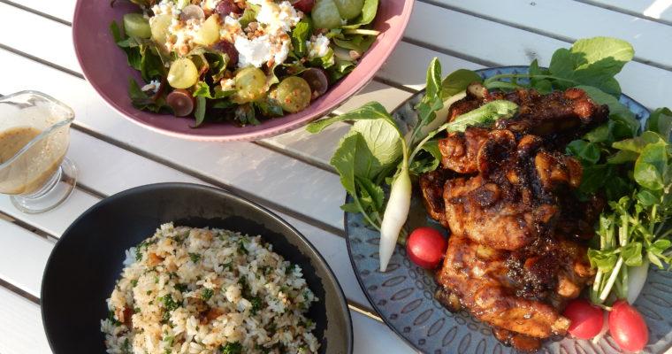 Spare ribs& Grape salad(スパイシースペアリブとぶどうサラダ)